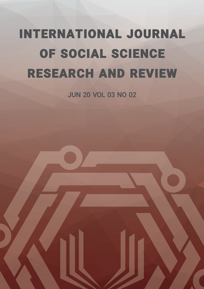 International Journal of Social Science Research and Review (IJSSRR), Vol 03, No 01, March 2020