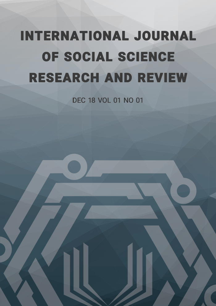 International Journal of Social Science Research and Review (IJSSRR), Vol 01, No 01, December 2018