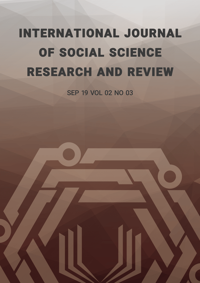 International Journal of Social Science Research and Review (IJSSRR), Vol 02, No 03, September 2019