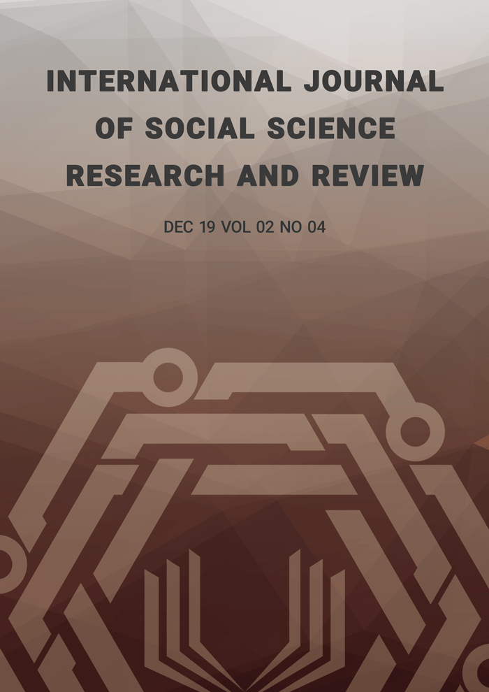 International Journal of Social Science Research and Review (IJSSRR), Vol 02, No 04, December 2019